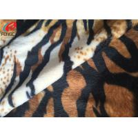Buy cheap Plain Dyed Polyester Velvet Fabric With Digital Printed Animal Design For from wholesalers