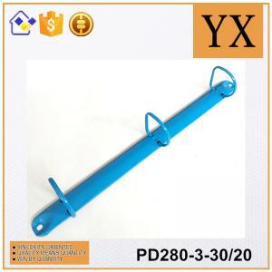 China Loose Leaf Hardcover ring binder Colored paper clip holder for folder on sale