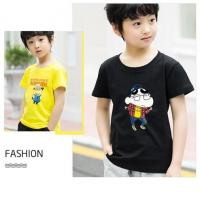 Quality Scoop Neck Children's Style Clothing , Short - Sleeved Cotton Children T Shirt for sale