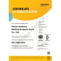 Henan Joinkona Medical Products Stock Co.,Ltd Certifications