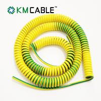 Quality Yellow PVC Industrial Wire Harness Cable Assembly With Round Ring Copper Connector for sale