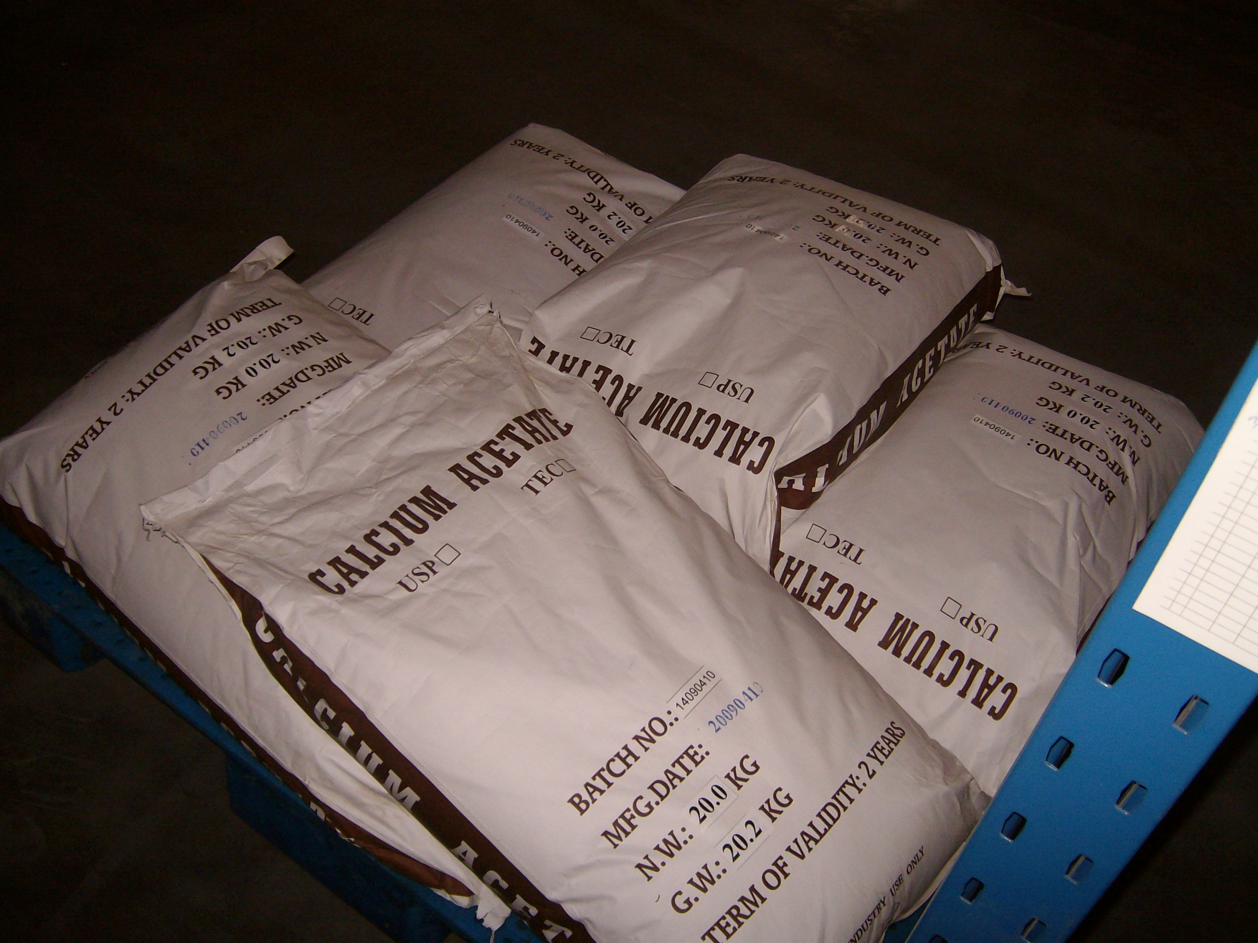 China Food Grade Calcium Acetate Monohydrate 99.0%-100.5% For Industry on sale
