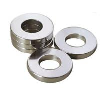 China Professional Ring Shaped Magnet / Ring Permanent Magnet Silver Coating on sale
