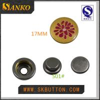 custom metal snap button in 17mm with you logo in high quality