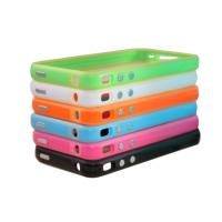 Quality White, black Apple Iphone Accessories bumper case with metal buttons for volume for sale