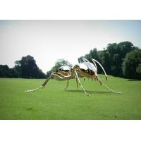 China Large Polished Stainless Steel Garden Sculptures , Metal Ant Sculpture Decoration on sale