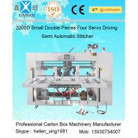 Buy Double Pieces Carton Box Stitching Machine Manual Feeding 60 Pcs / Min at wholesale prices