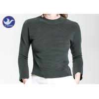 Buy Charm Crop Top Womens Knit Pullover Sweater Lady  Three Quarter Sleeves Short Turtle Neck at wholesale prices