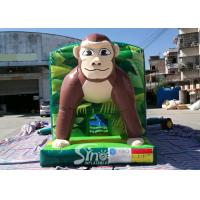 China Giant Jungle Monkey Inflatable Bounce House Obstacle Course For Kids Party Fun for sale