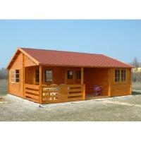 Buy One Floor Outdoor Wooden House In 36mm 72mm 110mm Wall thickness at wholesale prices