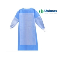 Quality Blue Reinforced SMS 45gsm Disposable Surgical Gowns for sale