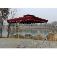 Quality Sunshade Market Rectangular Outdoor Umbrella Windproof Without Water Tank Base for sale