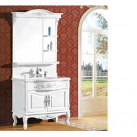 Waterproof bathroom furniture single vanity sink cabinet mirror / basin included