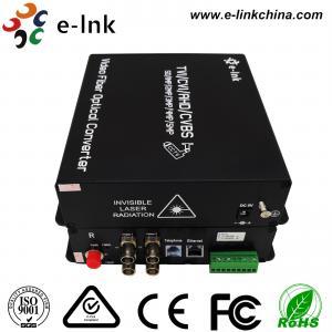 ST Fiber Interface Cctv To Ethernet Converter 4 Ch 1080P AHD Video 1 Ch 10/100M Ethernet
