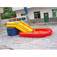 China children inflatable pool with slide on sale