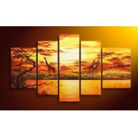 China 3Pcs/Set Colorful Abstract Art;Hand Painted Artwork On Canvas Art supplier in china on sale