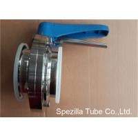 Buy A270 Sanitary Valves And Fittings Stainless Steel Plastic Handle Tri Clamp Butterfly Valve at wholesale prices
