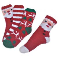 Quality Polyester plush therapy foot spa socks Christmas theme Winter for sale