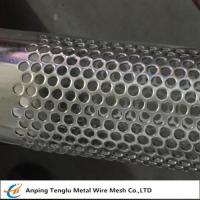 China Stainless Steel Perforated Tube|T304 Perforated Pipe with Punching Round Hole Pitch 7mm for sale