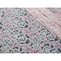 China White Cotton Polyester Lace Fabric Rose Print for Lingerie / Bra(CY-DK0033) on sale