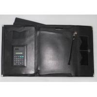 China A4 PU multifunctional file folder with calculator on sale