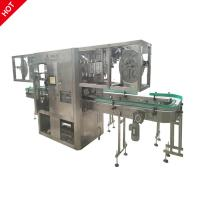 China Full Auto Double Head Sleeve Labeling Machine 380 /220V For PET Bottles on sale