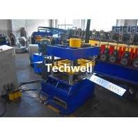 Quality Werehouse Shelving Upright Rack Roll Forming Machine With Flying Cutting, for Tear Drop Holes Slots for sale