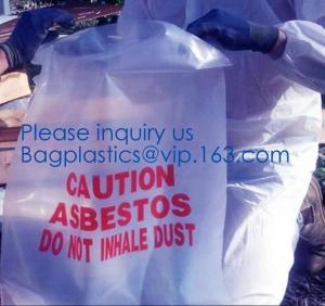 China Hazardous Waste Yellow Plastic Bag Asbestos Garbage Bag,large size thicker LDPE asbestos remove bags,asbestos garbage ba on sale