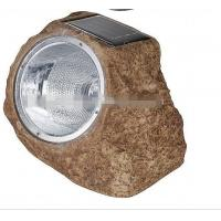 Quality Best polyresin material outdoor super bright white LED solar powered rock spot lamp for sale
