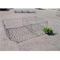 Quality Double - Twisted Hexagonal Gabion Mesh PVC Coated Wire Stone Gabion Cages for sale