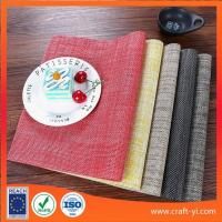 Textilene placemat and coaster dining mat 45 X 30 cm easy clean square table mat