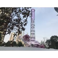 Recycled Pink Hand Blown Bongs , Custom Tree Branch Filters Glass Tobacco Pipe