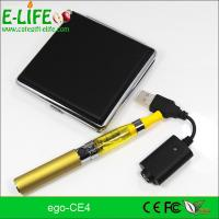 Quality eGo CE4 Single Starter Kits with metal box package potable electronic cigarette for sale
