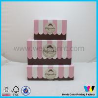 China 2014new design clear pvc window cupcake boxes on sale