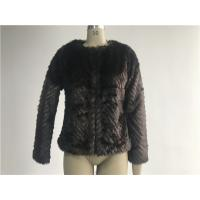Quality Warm Womens Brown Faux Fur Jacket , Collarless Chubby Short Coat TWS019919 for sale