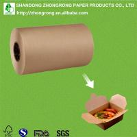 Quality PE coated brown kraft paper for lunch box for sale