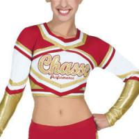 Buy Customized Sexy Cheerleading Wear Tops with Medalist Metallic Crop at wholesale prices