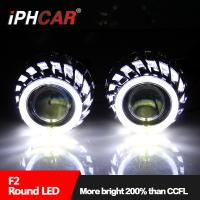 Quality 2017 Hot Sale 12V 35W Dual Led Angel Eyes Light Guide Halo Rings Lens Headlight Honda/Corolla/Reiz/Tiguan for sale
