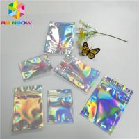 Quality Transparent Front Foil Packaging Bags Holographic Smell Proof Heat Seal Recyclable for sale