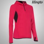 OEM ODM Red , Black windproof hooded sweatshirt for Womens / Ladies
