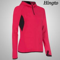 Buy OEM ODM Red , Black windproof hooded sweatshirt for Womens / Ladies at wholesale prices