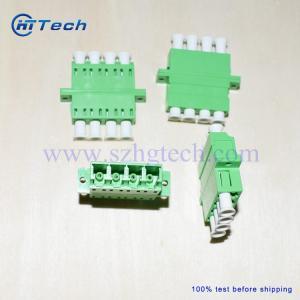 Quality LC / APC Quad Fiber Optic Adapter , Quad LC Fiber Adapter for sale