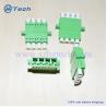 Buy cheap LC / APC Quad Fiber Optic Adapter , Quad LC Fiber Adapter from wholesalers