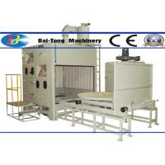 Quality 500kg Pressure Pot Sandblaster , Automatic Sandblasting Machine Two Work Stations Type for sale