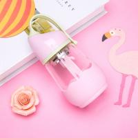 Cute 360ml Volume Anti Colic Baby Glass Water Bottle Pp Lid Eco - Friendly