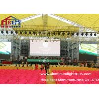 Square Spigot Aluminum Stage Truss , Theatre Lighting Stands Durable Structure