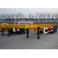 48 Foot Low Clearance Skeleton Semi Trailer , Gooseneck Container Trailer