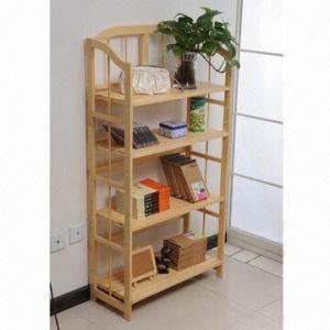 Quality 4-layered Storage Shelf Display, Made of Pine Wood for sale