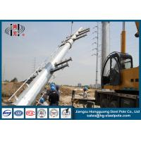 Quality Anti Rust 220KV Polygonal Galvanized Electric Power Poles Steel Tubular for sale