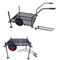 Quality Stable Fishing Tackle Trolley with Mesh Platform, Removable Legs for sale